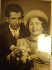 Anna Doubková s manželem Aloisem Klapalem