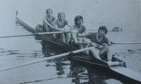 Ve veslařském oddílu v roce 1973