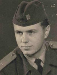 Jan Valtr in the army