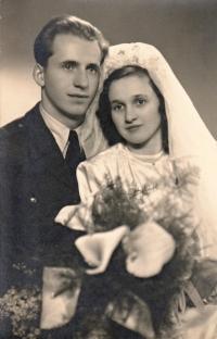 Svatba Arnošta Karase a Lady Matýskové, rok 1947