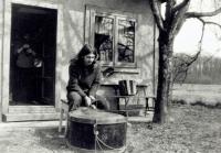 Martin Hassa / the band 'Hurvínkova koloběžka' / around the year 1983