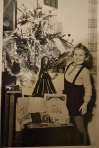 Jitka Bubeníková na Vánoce během válečných let
