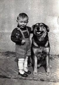Jaroslav Kašparů se psem
