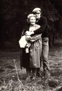 Jaroslav Kašparů s maminkou