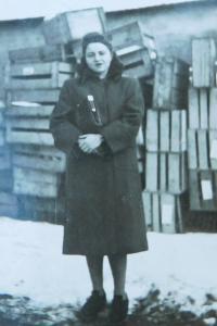 Sister of her husband Hana Buxbaum, who survived Terezín, Auschwitz and Bergen-Belsen
