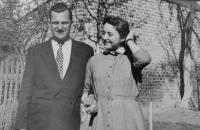 Sister of her husband Hana Řezníčková (Buxbaum) with her husband