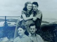 Sisters of her husband Ilsa and Hana and their husbands on Bradlo