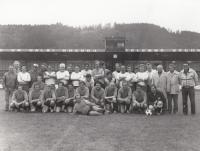Fotbalové utkání REALU Ústí nad Orlicí a ligového dorostu, 1985