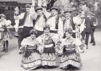 throws, Marta in traditional costume, on the photo with your cousin Vojtěch Cikrle