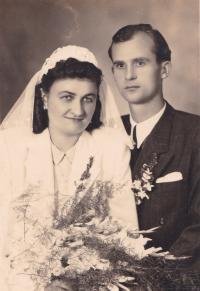 wedding of Zdenek and Marie (parents of Marta)