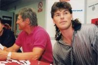 Jako kouč Jágr Teamu, exhibice v létě s hvězdami z NHL, 13.8.1997