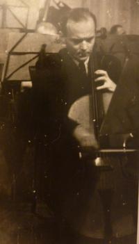 Jaroslav Vrbenský (senior) playing the cello
