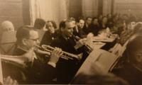 Jaroslav Vrbenský (senior) in an orchestra