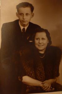 Jaroslav Vrbenský with his mother
