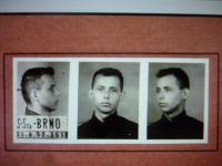 Police photo before interrogations in Brno, Příčná Street (25th August 1952)