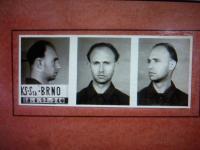 Police photo of priest Antonín Bradna (19th August 1952)