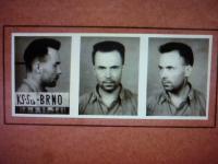 Police photo of priest Karel Pilík (19th August 1952)