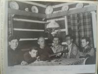 In Šanda's lodge near Severka, 1946