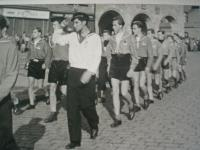 1945 Nymburk - Oskar leading his patrol