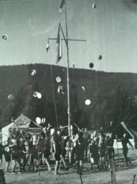 Camp in Šumava 1946