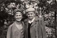 With her grandmother Emma Nováková, Prague-Barrandov, 1959