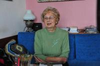 Eva Mádrová v říjnu 2009 během natáčení