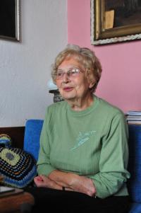 Eva Mádrová během natáčení v říjnu 2009