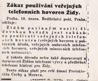 Zákaz používání veřejných telefonních hovoren Židy