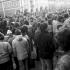 Demonstrace na  náměstí v Domažlicích v týdnu po 17. listopadu 1989