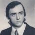 Libor Grubhoffer na fotce z maturitního tabla gymnázia v Poličce, 1976
