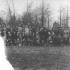 Obec Kyrylivka ve 30. letech 20. století. Pravděpodobně školní fotografie