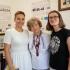 Rostyslava Fedak (uprostřed), Khrystyna Rutar (nalevo), Hanna Zaremba-Kosovych (napravo) v Muzeu dějin ukrajinského ženského hnutí (2020, Lvov)