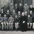 V primě jezuitského gymnázia, 1947/48 (Václav Wagner třetí zleva v prostřední řadě)