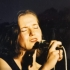 Michaela Antalíková na koncertě kapely Půlnoc, 1990
